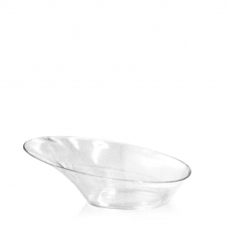 Fingerfood talířek oválný, čirý (PS) 9,8 x 7,3 x 3,2 cm