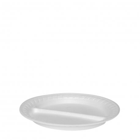 Termo-talíř dělený na 2 porce, bílý (EPS)  Ø 22,5 cm
