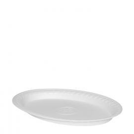 Termo-talíř oválný, bílý (EPS)  29,5 x 21 cm