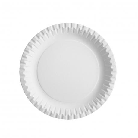 Papírové talíře mělké, nepromastitelné (PAP/PE) Ø 23 cm