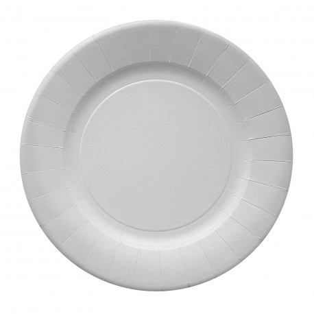 Papírové talíře mělké, nepromastitelné (PAP/PE) Ø 29 cm