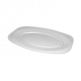 Podnos oválný bílý (EPS)  55 x 36 cm