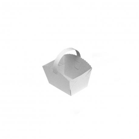 Svatební košíčky s ouškem  (PAP) 10 x 8 x 6 cm