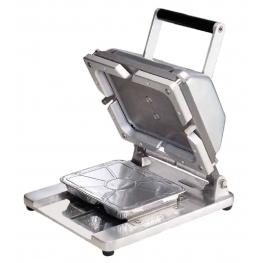 Stroj pro zavírání ALU menu misek
