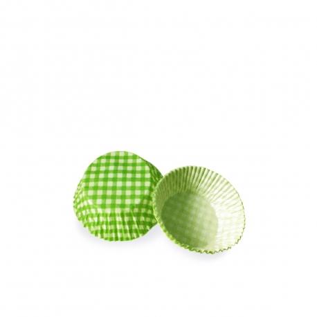 Cukrářské košíčky KARO zelené (PAP)  Ø 50 x 30  mm