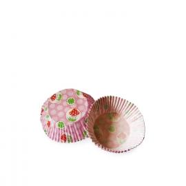 Cukr. koš. čtyřlístek a muchomůrka (PAP)  Ø 50 x 30  mm
