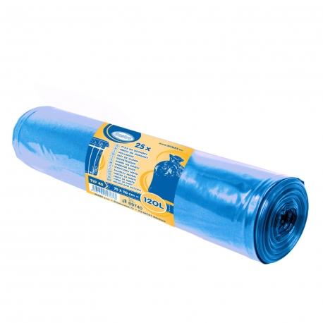 Pytle na odpadky 120 L - MODRÉ (LDPE)  Typ 40