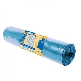 Pytle na odpadky 120 L - MODRÉ  (LDPE) Typ 50