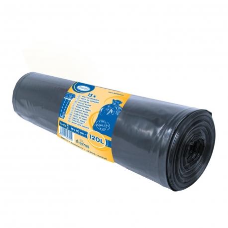 Pytle na odpadky 120 L - ČERNÉ  (LDPE) Typ 100
