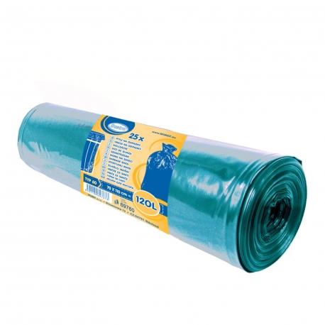 Pytle na odpadky 120 L - MODRÉ  (LDPE) Typ 60