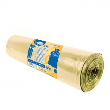 Pytle na odpadky 120 L - ŽLUTÉ  (LDPE) Typ 60
