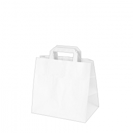 Papírové tašky bílé (PAP) 26 x 17 x 25 cm
