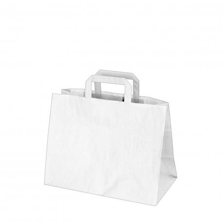Papírové tašky bílé (PAP)  32 x 17 x 25 cm
