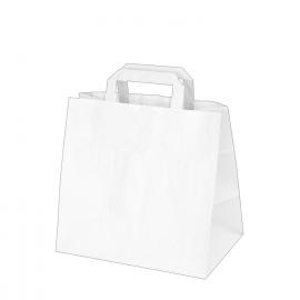 Papírové tašky bílé (PAP) 32 x 21 x 27 cm