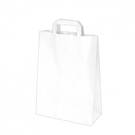 Papírové tašky bílé (PAP) 26 x 12 x 36 cm