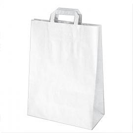 Papírové tašky bílé (PAP) 32 x 15 x 43 cm