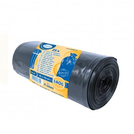 Pytle na odpadky černé 140 L  (LDPE) Typ 60