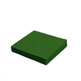 Ubrousky  1vrst.  PAP)  33 x 33 cm -  tmavě zelené