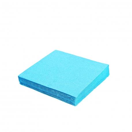 Ubrousky  1vrst.  (PAP)  33 x 33 cm -  světle modré