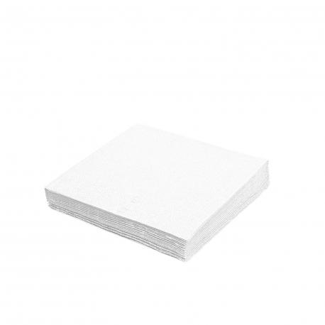 Ubrousky 2vrst. (PAP) 24 x 24 cm -  bílé