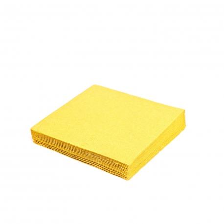 Ubrousky 2vrst. (PAP) 24 x 24 cm -  žluté