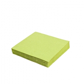 Ubrousky 2vrst. (PAP) 24 x 24 cm - žlutozelené