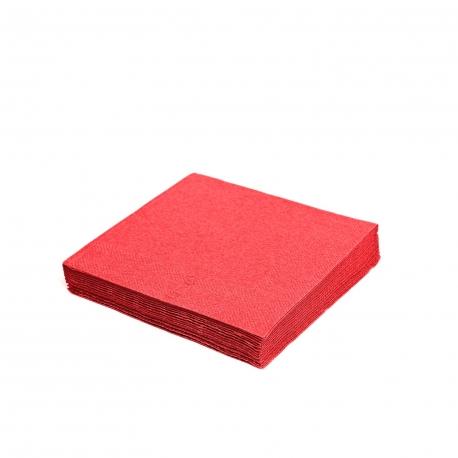 Ubrousky 2vrst. (PAP) 24 x 24 cm - červené