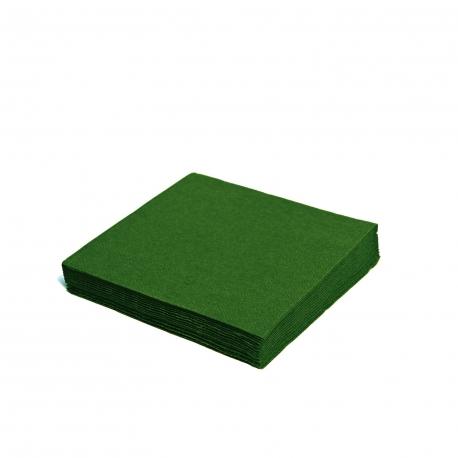 Ubrousky 2vrst. (PAP) 24 x 24 cm - tmavě zelené