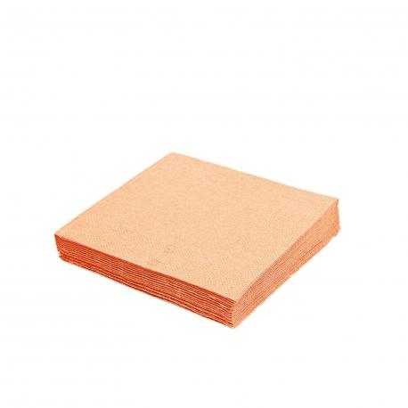 Ubrousky 2vrst. (PAP)  33 x 33 cm - apricot