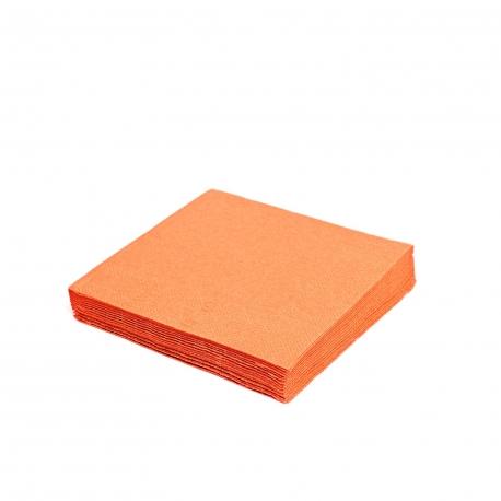 Ubrousky 2vrst. (PAP)  33 x 33 cm -  oranžové