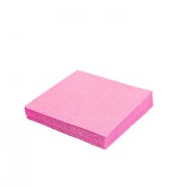Ubrousky 2vrst. (PAP)  33 x 33 cm -  růžové