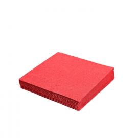 Ubrousky 2vrst. (PAP)  33 x 33 cm -  červené