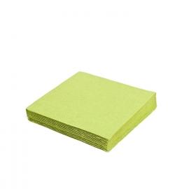 Ubrousky 2vrst. (PAP)  33 x 33 cm -  žlutozelené