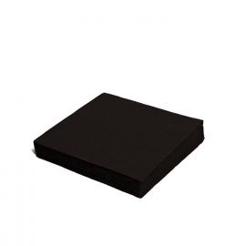 Ubrousky 2vrst. (PAP)  33 x 33 cm -  černé