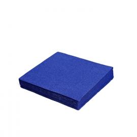 Ubrousky  3 vrst.  (PAP)  40 x 40 cm  - tmavě modré