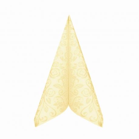 "Ubrousky AIRLAID - PREMIUM  ""dekor R""  40 x 40 cm -  béžové"