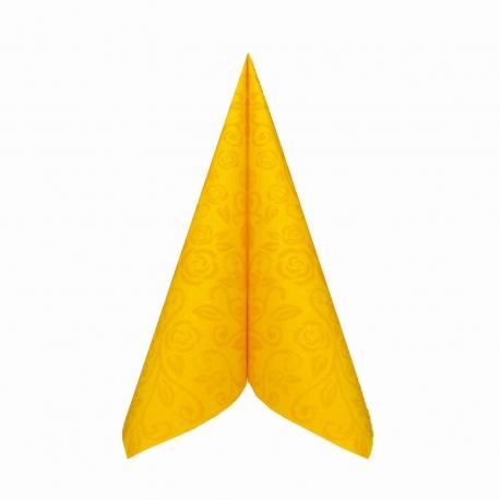 "Ubrousky AIRLAID - PREMIUM  ""dekor R""  40 x 40 cm -  žluté"