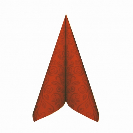 """Ubrousky AIRLAID - PREMIUM  """"dekor R""""  40 x 40 cm -  terakota"""