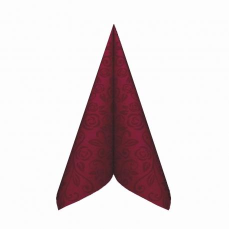 """Ubrousky AIRLAID - PREMIUM  """"dekor R""""  40 x 40 cm - bordové"""
