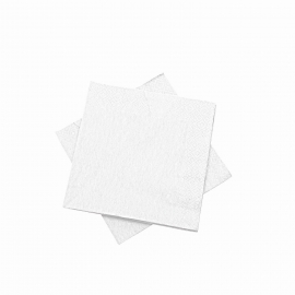 Ubrousky  3vrst. (PAP) 24 x 24 cm -  bílé