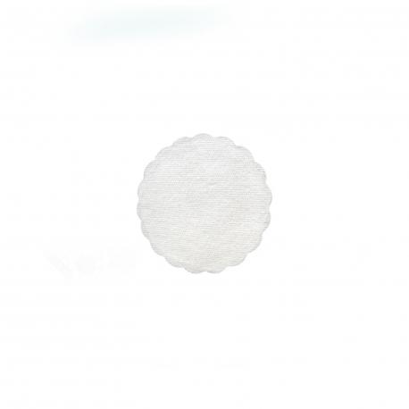 Rozetky PREMIUM (AIRLAID)   Ø 9 cm -  bílé