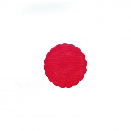 Rozetky PREMIUM (AIRLAID)   Ø 9 cm -  červené