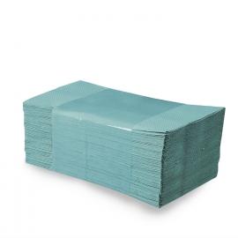 Papírové ručníky skládané ZZ, zelené (PAP - recykl)
