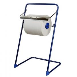 Odvinovač kovový stojanový pro utěrky v roli, modrý