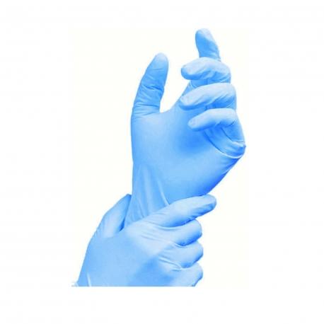 Rukavice  NITRILOVÉ modré, nepudrované - M