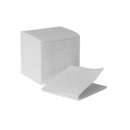 Utěrky tissue skládané, 2-vrstvé, bílé (PAP - 100% celulóza)