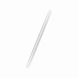 Slámky bílé   (PP)   Ø 8 mm x 25 cm (JUMBO)