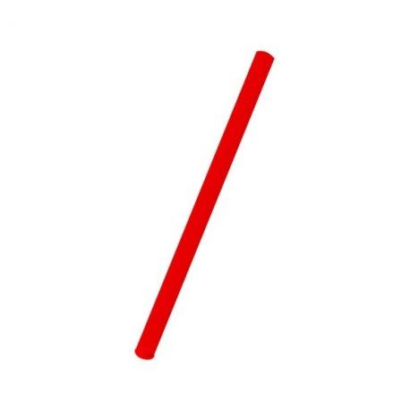 Slámky  červené (PP)   Ø 8 mm x 25 cm (JUMBO)