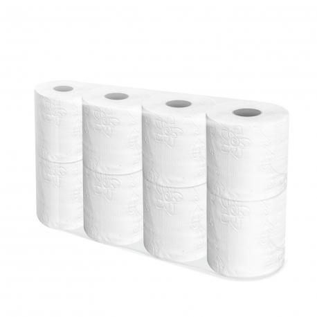 Toaletní papír 3-vrstvý, 250 útržků, bílý (PAP - Recykl)  TP Neutral, 29 m