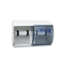 Plastový zásobník toaletního papíru, dvojitý, bílý